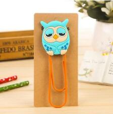 Cute Owl Books Diary Documents Paper Bookmark Clips Clamp School Gifts 2 Set