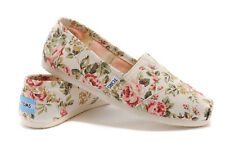 Toms Classics Shabby Chic Floral Women's Size New In Box Original