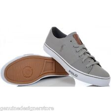POLO RALPH LAUREN TRAINERS CANTOR LO MUSEUM GREY MENS RRP £65