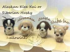 DIY Wool Needle Felt Craft KIT Cute Dog Puppy Jack Cell Phone Strap+ Free Needle