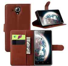 9 Colors Leather Wallet Case Flip Cover Pouch For Lenovo A536 cell mobile phone