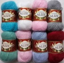 2 Skein x 25g = 50 gram Alize KID Mohair Knitting yarn,High Quality