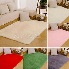 Fluffy Rug Anti-Skid Shaggy Area Rug Living Dining Room Bedroom Carpet Floor Mat