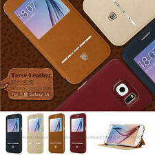 Baseus Terse Leather Window View Smart Flip Case for Samsung Galaxy S6