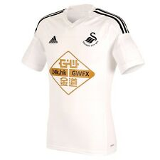 Genuine Adidas Uomo Swansea City AFC HOME SHIRT 2014/15 (Adizero slim fit)
