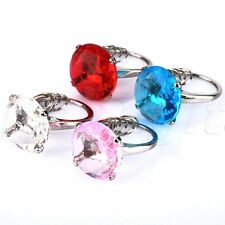 Crystal Diamond Engagement Ring Keychain Bridal Shower Favors Wedding Party Gift