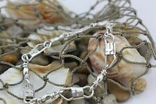 ACTS Sterling Silver Fishers Of Men Bracelet with Christian cross