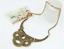 Retro Gold Silver Maxi Femininos Statement Collares Necklaces for Woman 13451