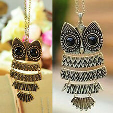 Good Cute Women Lady Vintage Owl Pendant Long Chain Necklace Jewelry Fashion