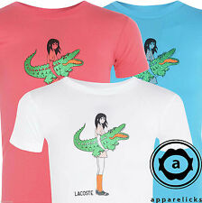 Lacoste Kid's Crew Neck Cotton Tee White Blue Pink Girls T-Shirt 3 Colours L33A