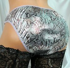 Nylon Adult SIlver FOIL SISSY SHINY high gloss fetish men lined panties S M L XL