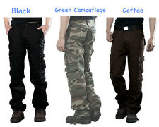 Men Military Camouflage Cargo Pants Army Combat Hiking Camo Work Trousers