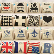 Vintage Throw Pillow Case Sofa Waist Pillowcases Car Cushion Cover Home Decor