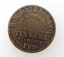 Original Civil War Token, Plymouth, Indiana, 1863, H.B. Dickson & Co., KS22