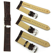 1PC 18~22mm Genuine Leather Strap Steel Buckle Wrist Watch Band Soft Gift