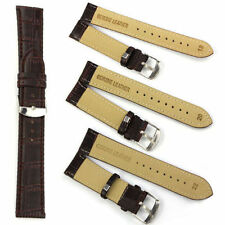 NEW Quality Unisex Genuine Leather Black Brown Watch Strap Band 18mm 20mm 22mm