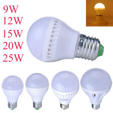 LED E27 Energy Saving Warm White Light Globe Bulb Lamp 9/12/15/20/25W 110V-220V