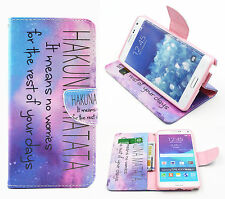PU Leather Stand Printed Flip Wallet Case Cover Card Magnetic For Various Phones