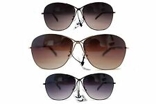 New Eyewear Metal Frame Shades Big Women Fashion Designer Sunglasses
