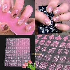 108pcs 3D DIY Flower Design Nail Art Stickers Decals Flower Manicure Tips Decor