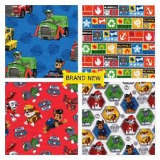 PAW PATROL RESCUE DOGS Cotton Fabric  U Choose