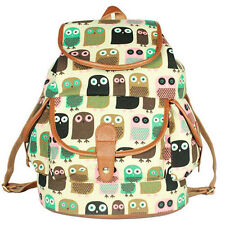 New Fashion Canvas Women Backpack For Girl Student Shoulder School Bag Bookbags