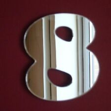 "Number 8 ""Eight"" Mirrors (3mm Acrylic Mirror, Several Sizes Available)"