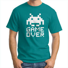 Space Invaders Game Over Alien Shooter Classic Unisex Crew Neck Tee T-Shirt