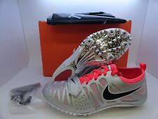 New Nike Zoom Celar 4 Track Field Running Spikes  Women's 456816-006 Silver