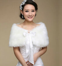 Faux Fur Wrap Shrug Bolero Coat bride Wedding Shawl Accessories Shrug Jacket