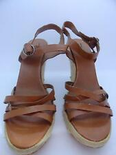 New American Eagle Outfitters Women's Platform Strap Sandals Shoes Light Brown