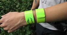Cycling Running HIGH VISIBILITY Reflective Safety Strap Snap Arm Band Bracelet