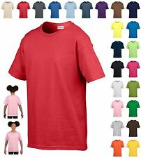 Boys Girls Plain T-Shirt Kids Cotton Casual Shool Sports Summer Short Sleeve Top