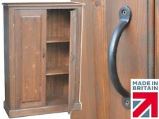 """Solid Pine Storage Cupboard, 4ft 4"""" Tall Linen,Pantry,Hallway,Shoe Store Cabinet"""