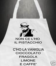 Grembiule Cucina Divertente / T Shirt BUD SPENCER TERENCE HILL Gelato Pistacchio