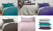 3 Pce Paisley Embossed QUEEN / KING Coverlet Bedspread Blanket Set - 6 Colours
