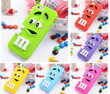 3D M&M Silicone Back Cover Skin Case for Apple iPhone 4/4s 5/5s