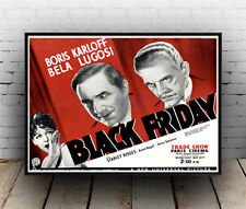 Black Friday , old  Movie advert, Poster, Wall art, Reproduction.