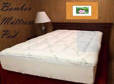 Extra Plush Bamboo Fitted Mattress Pad - FREE FROM CHEMICAL OFFGASSING