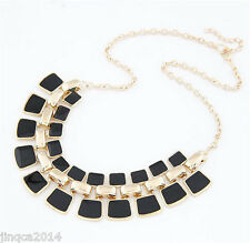 Gold Plated Stone Collier Colar Accessories Fashion Necklace Bijoux Jewelry