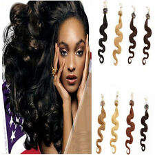 Body Wavy Remy Human Hair Extensions 1g 100g/pake Loop Micro Ring Link Tip 20''