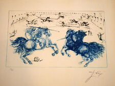 "SALVADOR DALI ""Combat des cavaliers"" Affordable original etching 116/300 ca 1971"