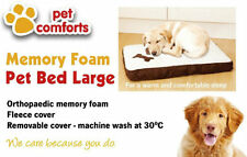 Memory Foam Orthopedic Faux Suede Sherpa Top Dog Pet Bed Mattress - SMALL LARGE