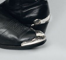 Western Silver Plated Heel or Toe Guards for Cowboy Boots