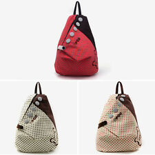 Womens Girls New Fashion Canvas Backpack Rucksack School Shoulder Bag Bookbag