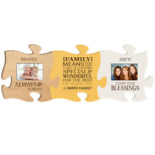Personalized Always & Forever Puzzle with 4x6 Photo Frame, Family means you are