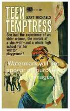 Teen Temptress , Vintage Pulp book cover , Reproduction poster, Wall art.