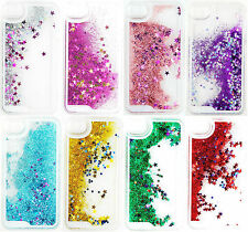 Hot Glitter Bling Stars Liquid Novelty Colourful Case Cover For iPhone Samsung