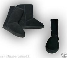 UGG BOOTS . GENUINE AUSTRALIAN SHEEPSKIN WOOL FLEECE Size 6-10 Black women men