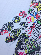 ENERGY DRINK STICKER BOMB Vinyl Bike cable rub frame patches ROAD MTB BMX DH